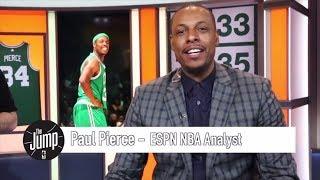 The Jump surprises Paul Pierce with customized studio after jersey retirement ceremony | ESPN