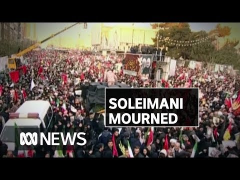 Millions gather across the Middle East to mourn Iranian general Qassem Soleimani | ABC News