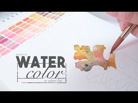 How to Paint a Whimsical Autumn Leaf