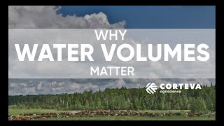 Why water volume matters