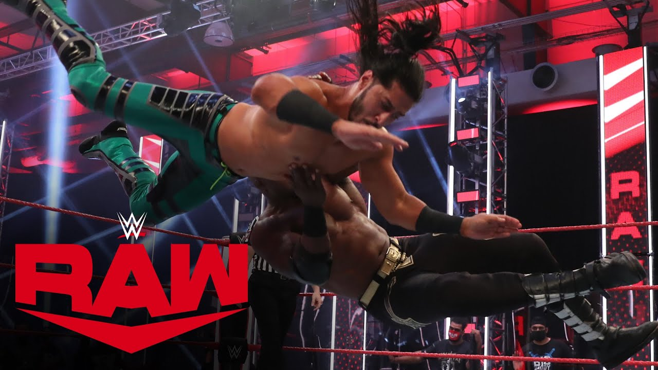 Apollo Crews, Mustafa Ali & Ricochet vs. The Hurt Business: Raw, Aug. 17, 2020