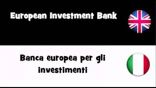 Say it in 20 languages # European Investment Bank
