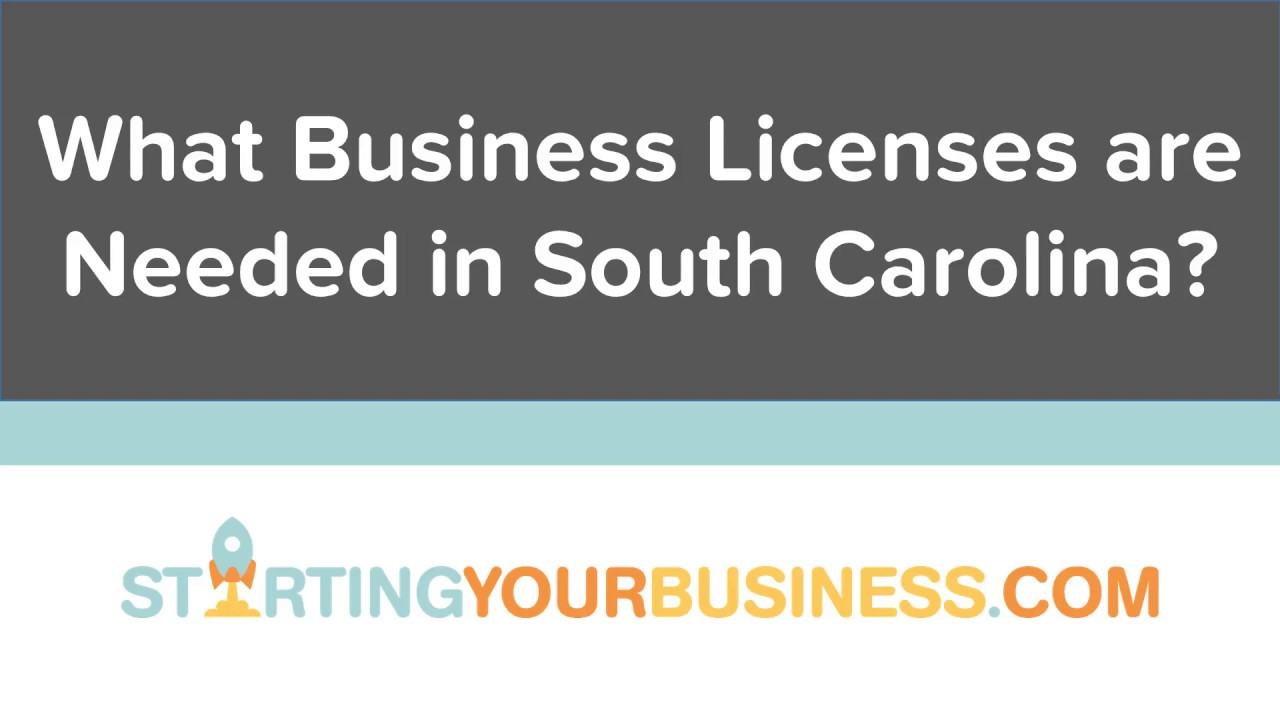 What Business Licenses are Needed in South Carolina - Starting a Business  in South Carolina