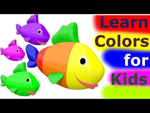 Learn Colors For Kids 3D - Learn Colors With Fish for Kids Toddlers Babies Nursery Rhymes