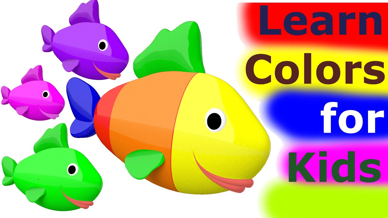 learn colors for kids 3d learn colors with fish for kids toddlers babies nursery rhymes youtube - Color For Kid