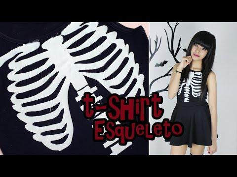 DIY: Camisa Esqueleto | T-Shirt Skeleton
