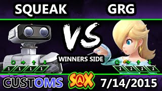 S@X 106 Customs - Squeak (ROB) Vs. GRG (Rosalina) SSB4 Tournament - Smash Wii U - Smash 4