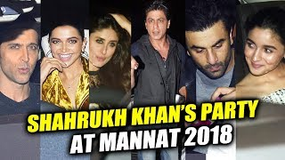 Deepika, Alia, Ranveer, Hrithik, Kareena, Ranbir Attends Shahrukh Khan's Party 2018 At Mannat