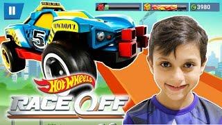 Jogo Hot Wheels Race Off Desafio Nível 1 ao 3 Carros Rip Rod Dawgzilla Duni it up