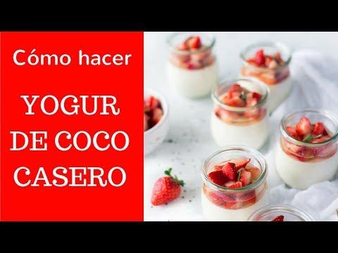 Cómo hacer YOGUR DE COCO casero