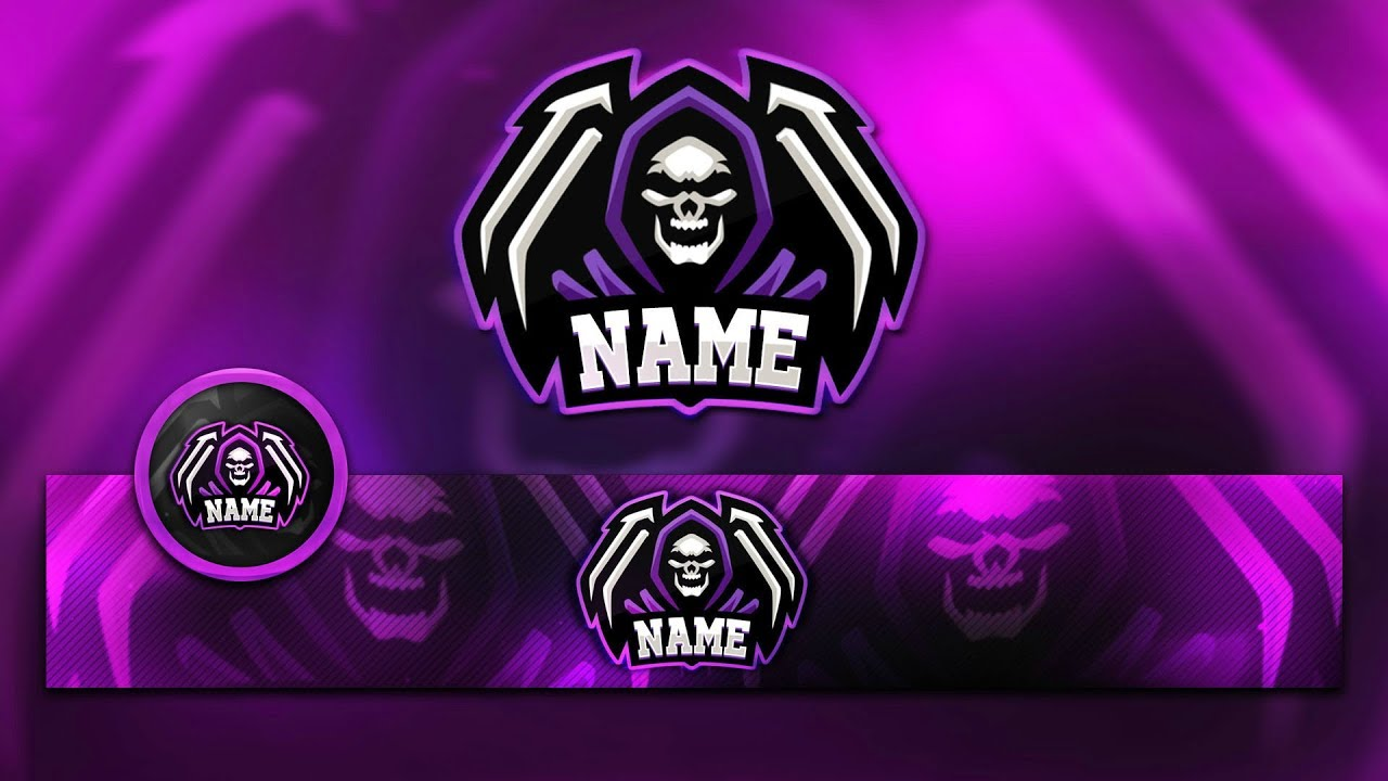 Free Mascot Clan Logo Banner Template Psd Youtube