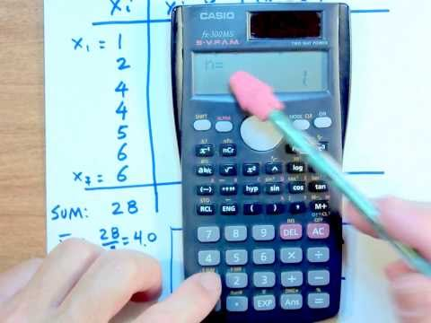 COMPUTING SAMPLE STANDARD DEVIATION USING CASIO Fx 300MS