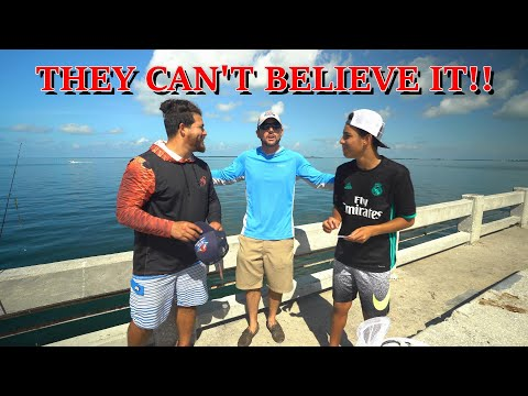 Pier Fishing Cousins Surprised With FREE SHARK FISHING Trip!