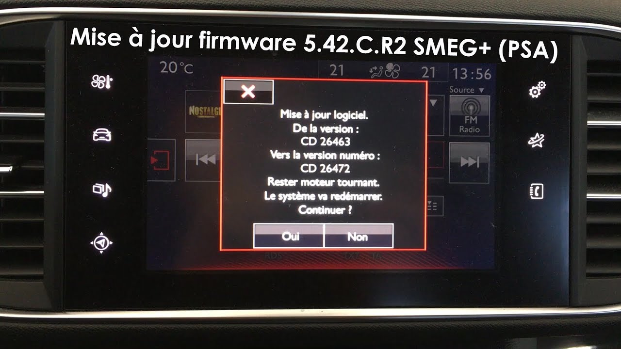 mise jour upgrade firmware smeg peugeot 308 2. Black Bedroom Furniture Sets. Home Design Ideas