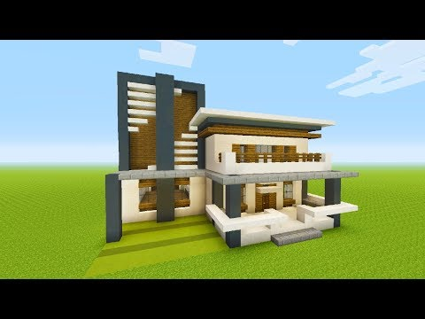 Minecraft Tutorial: How To Make A Modern House #4