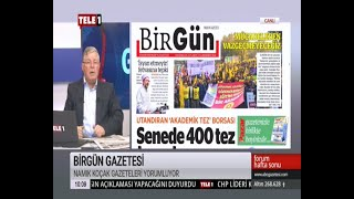 TELE 1 / NAMIK KOÇAK GAZETELERİ YORUMLUYOR-24.11.2019