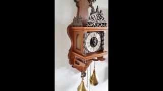 Beautiful Warmink Dutch 8 Day Oak Zaanse Wall Clock. Bim Bams