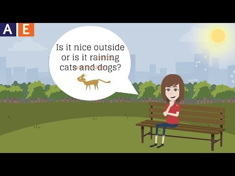 American English Idioms Raining Cats And Dogs Youtube