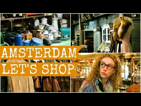 Vintage and second hand shopping, Amsterdam. Brilmuseum and IJhallen included ;)