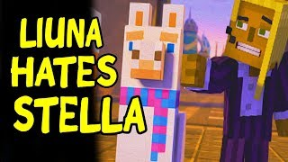 Lluna Stays with jesse vs Lluna Leaves with Stella (ALL CHOICES) Minecraft Story Mode Season 2 Ep 5