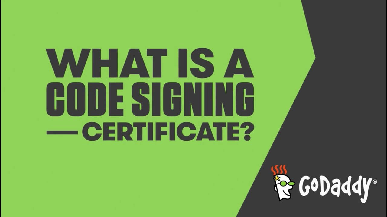 What Is A Code Signing Certificate Godaddy Uk Youtube