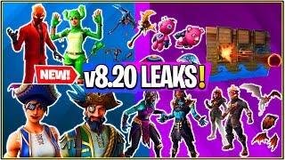 *NEW* Fortnite: ALL Leaked v8.20 Cosmetics,Emotes,LAVA Legends, Explosive Bow, Fire Spinner, & More!