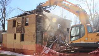 Vacant House demolished for new Cattaraugus-Little Valley School Exit