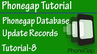 Free Phonegap Tutorial for Android & iOS for Beginners 08 - Update Record in SQLITE using Phonegap