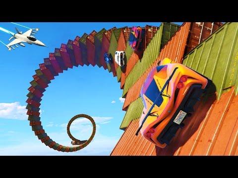 GTA 5 Online - ULTIMATE FUN PLAYLIST!! Stunts, Wallrides, Spirals, Ramps & MORE! (GTA 5 Gameplay)