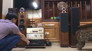 Thọ frc - amply Sansui 907 L extra đánh cặp Arion ( England ) + Sound Dinamic ( USA )