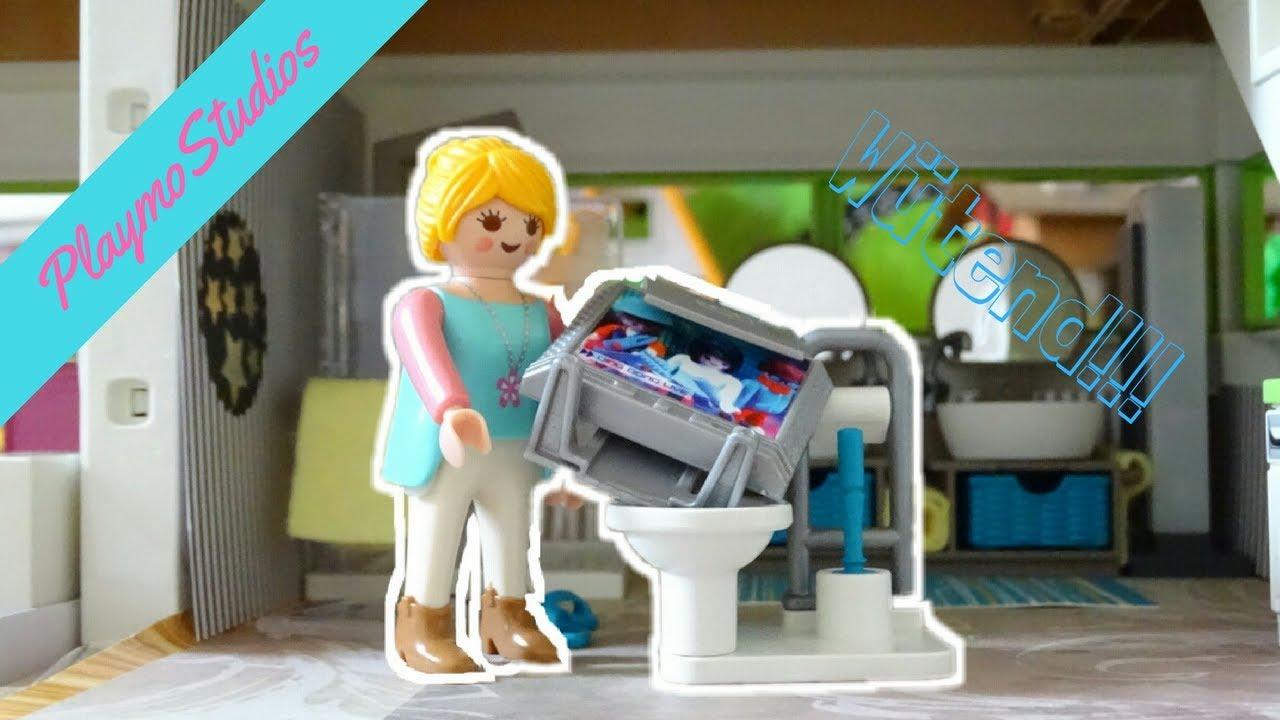 MAMA IST SAUER - WIRFT SIE ALLES INS KLO? - Playmobil film deutsch / Familie Schleife