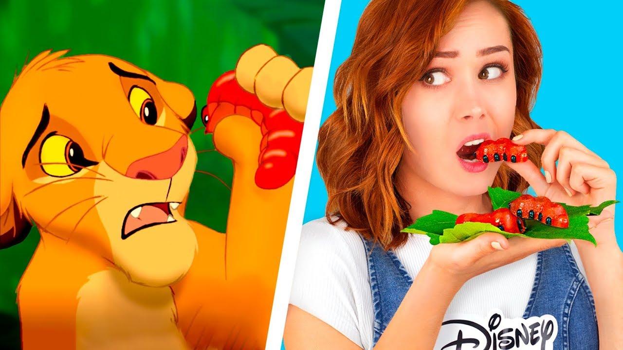 9 DIY Disney Food vs Pixar Food Challenge / Remaking The ...