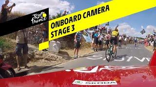 Onboard beelden van derde etappe Tour de France 2019