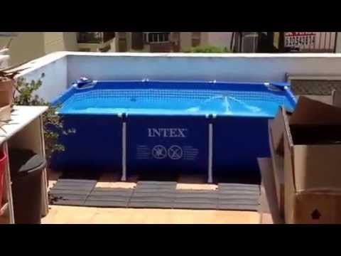 Piscine intex 129 livr youtube - Habillage piscine hors sol intex ...