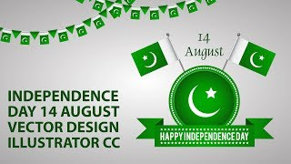 Pakistan Independence Day 14 August 2019 l Vector Design in illustrator CC