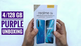 Realme 5s Unboxing and Overview | 4GB & 128GB Crystal Purple | 48MP Quad Camera