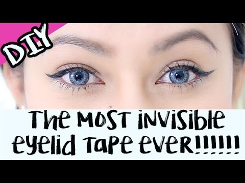 BEAUTY HACK: Eyelid Tape With Tulle & Lash Glue