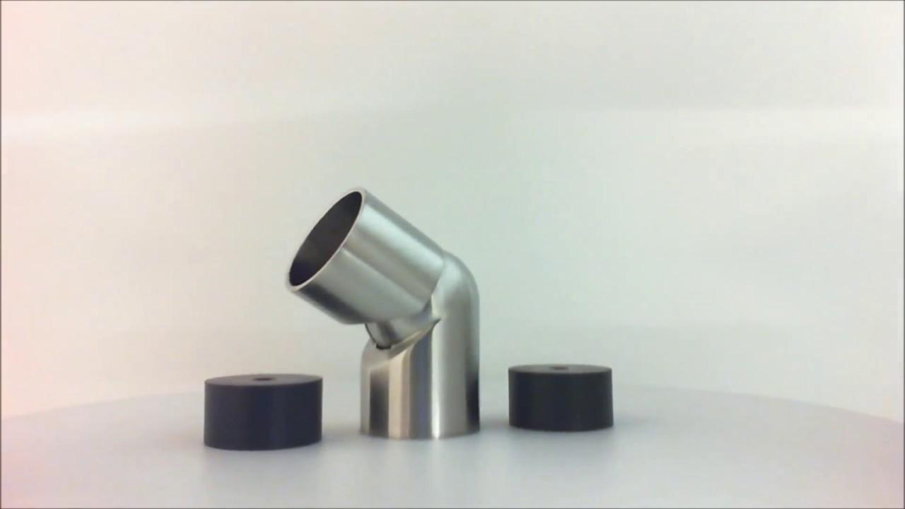 Snodo regolabile in acciaio inox per corrimano in legno for Scatolati in acciaio inox