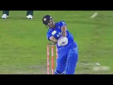 Ms Dhoni last Ball six in 2011 world cup final