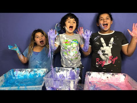 MAKING SLIME WITH OUR BROTHER - DIY GIANT FLUFFY UNICORN SLIME