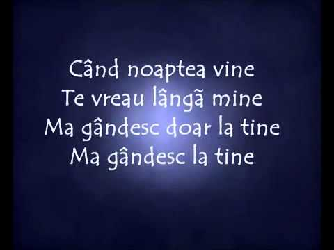 ALEX VELEA : Cand noaptea vine lyrics - lyricsreg.com