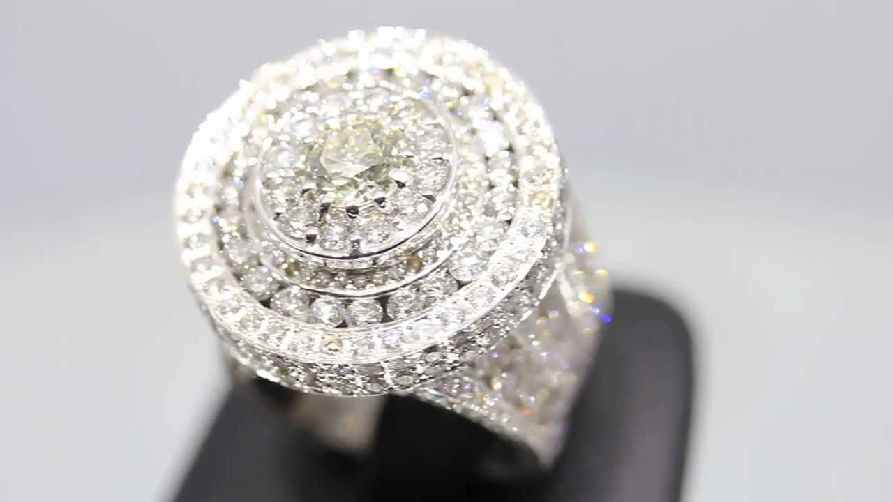 Mens 14k Solid White Gold Diamond Pinky Ring 14 78 Ctw
