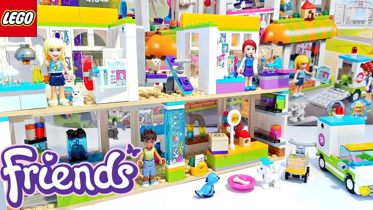 Lego Friends Heartlake City Pet Center Building Review 41345 Youtube
