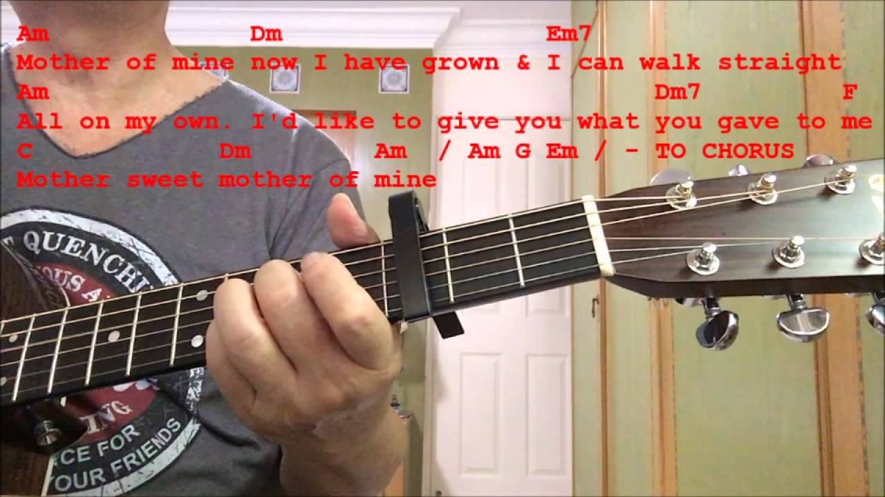 Mother Of Mine Happy Mothers Day Guitar Cover Chords Youtube