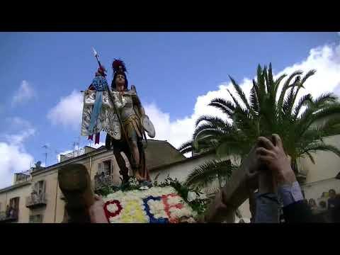 Burgio Pasqua 2012 San Michele e incontro di Pasqua