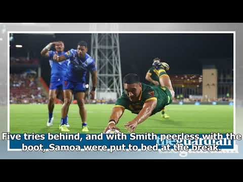Valentine holmes scores five tries as australia trounce samoa in rugby league world cup 2017