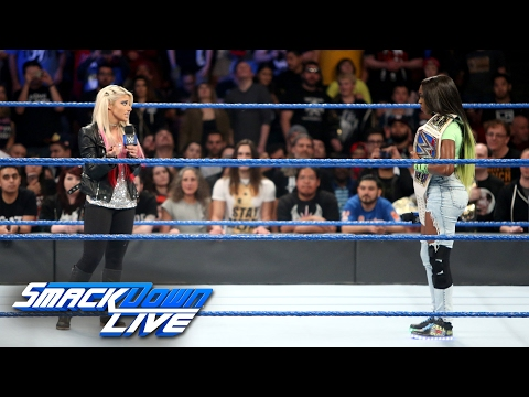 Alexa Bliss interrupts injured SmackDown Women's Champion Naomi: SmackDown LIVE, Feb. 14, 2017