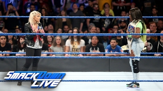 Alexa Bliss interrupts injured SmackDown Wome...