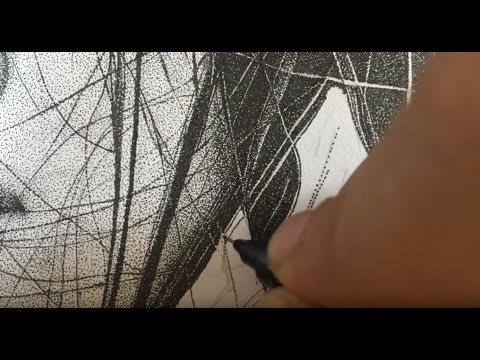 Ink dot art