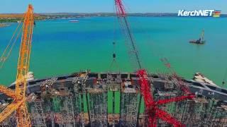 Мостостроители показали, как монтировали арку